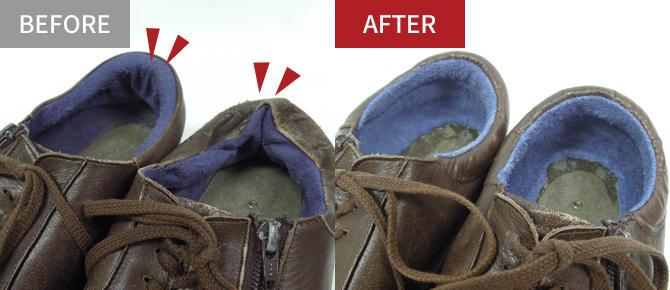 靴の修理(工場で修理)