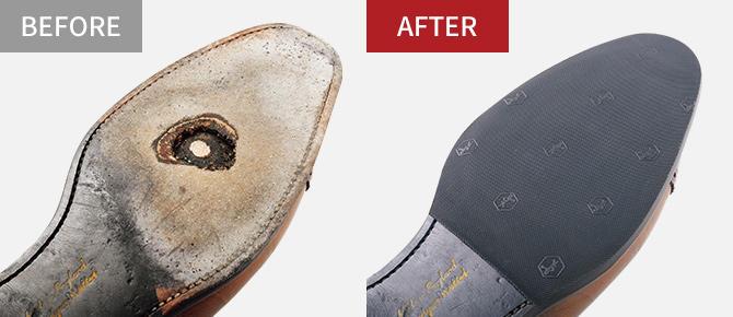 滑り止め効果の高いラバータイプと、高級感と通気性に優れたレザータイプ。 紳士靴[両足] □スタンダード 税別2,800円 □プレミアム  税別3,100円□レザータイプ 税別